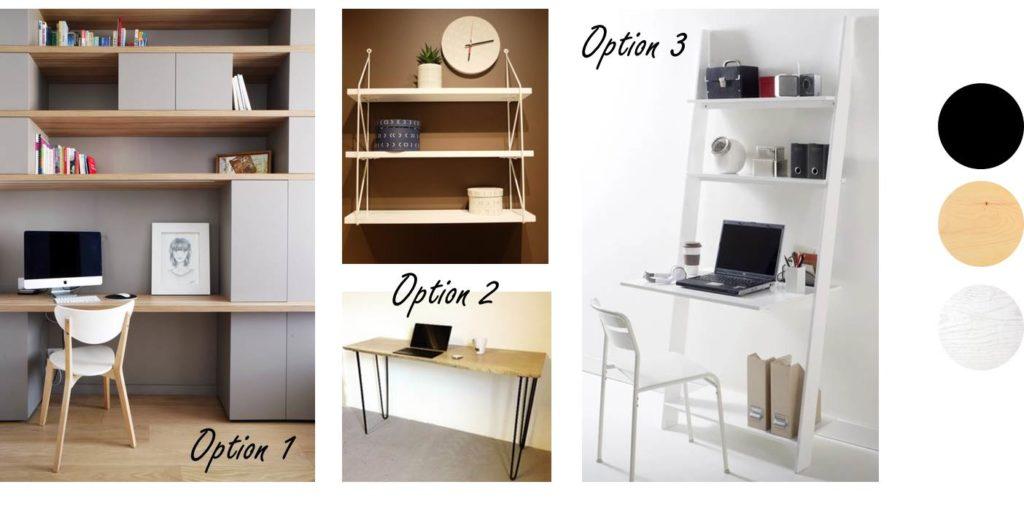 Aménagement d'un coin multi-fonction dans une chambre - planches d'idées mobilier et déco