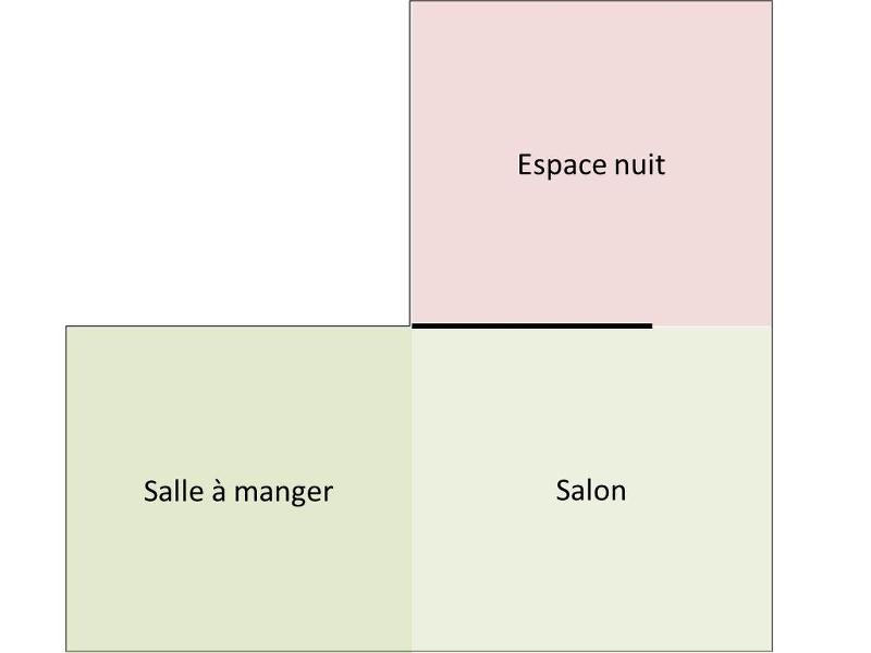 Zoning état projeté : séparer l'espace nuit du salon