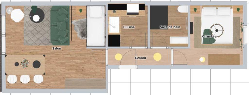 Visualiser l'aménagement de votre pièce en 3D avec nos conseils et explications.