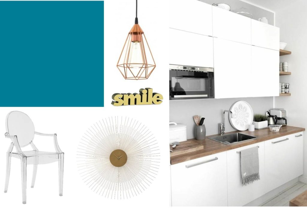 Planche tendance cuisine - conseils de rénovation, homestaging, planche tendance, sélection peinture, planches shopping mobilier et accessoires déco