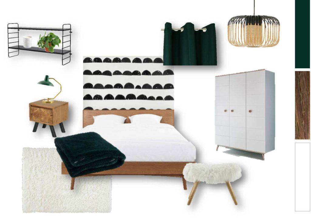 Planche shopping : visualiser l'ensemble du mobilier et des accessoires sélectionnés spécifiquement pour votre pièce