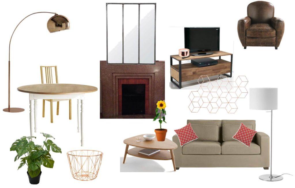 Planche tendance entrée - aménager tout un appartement en intégrant les éléments meubles et déco déjà existants