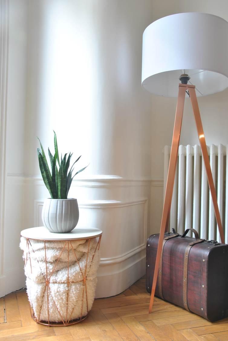 Photo après salon - aménager tout un appartement en intégrant les éléments meubles et déco déjà existants