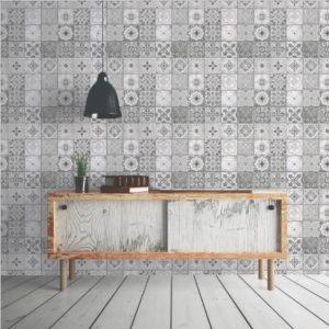papier peint imitation carreaux de ciment chez leroy merlin