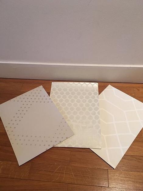 proposition de 3 papiers peints pour la rénovation d'un couloir