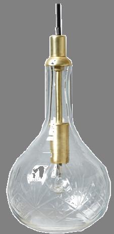 suspension en verre ciselé de chez cyrillus home pour la rénovation d'un couloir