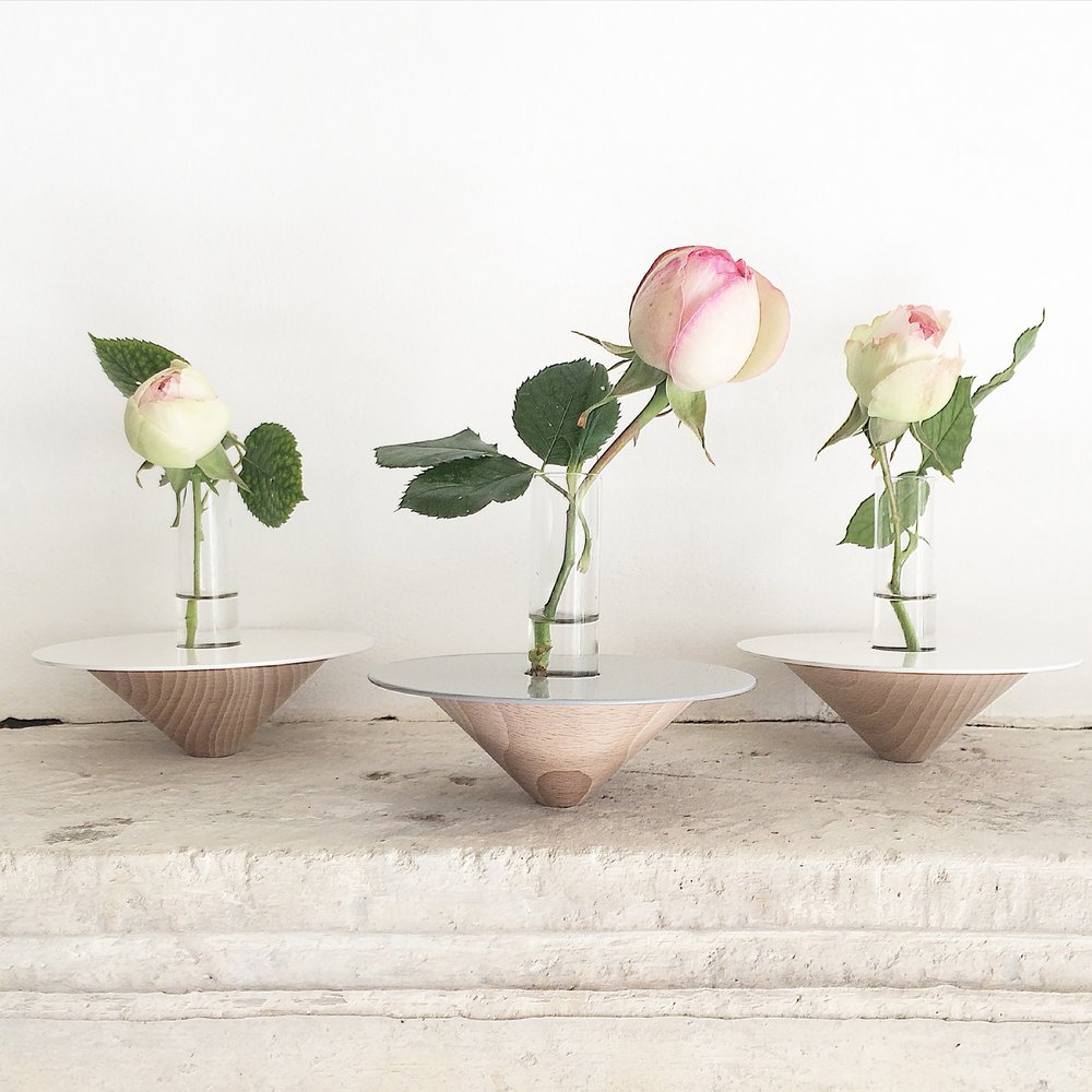 vase soliflore toupie anso design