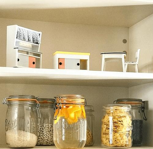 bocaux en verre pour une décoration zéro déchet