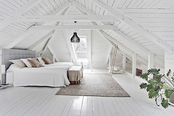 une chambre sous les combles