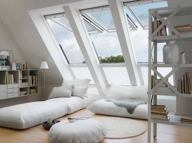 fenêtre de toit sous les combles