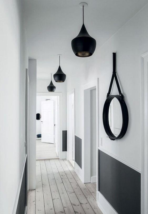 éclairage dans un couloir