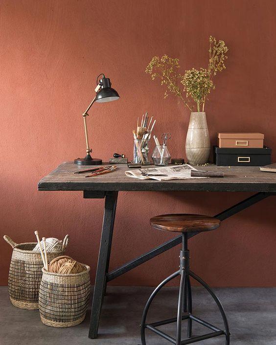 la couleur terracotta et le style indutriel