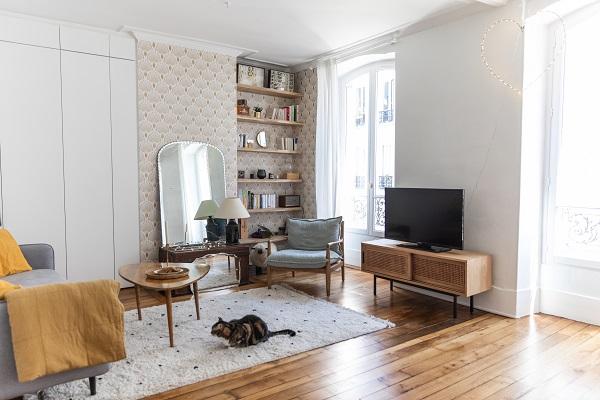 Rénovation d'un salon à Paris par Happy POG