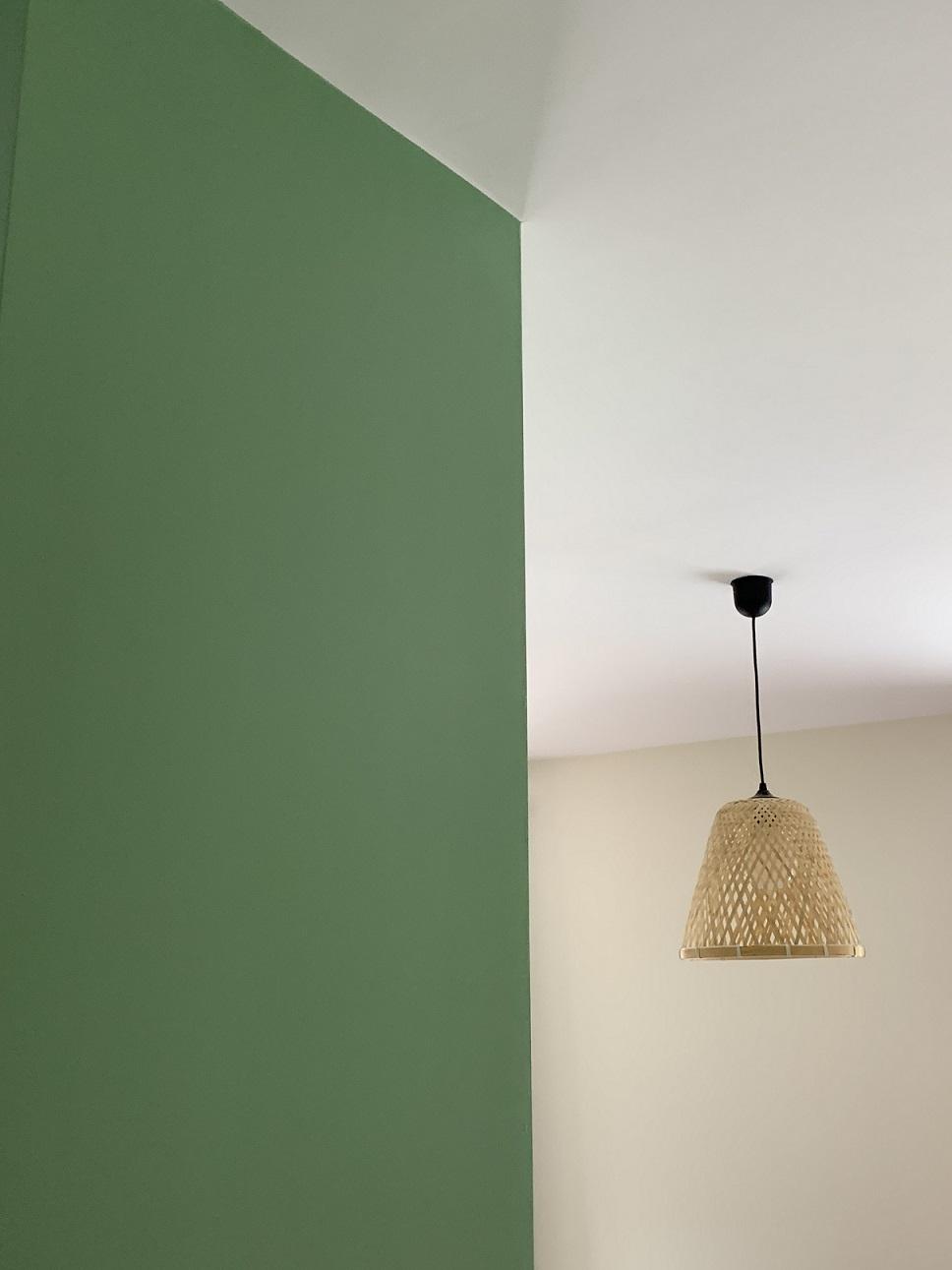 réalisation Vaires peinture verte mur
