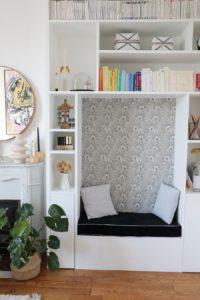 Alcôve salle de vie papier peint