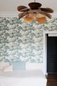 Chambre papier peint végétal